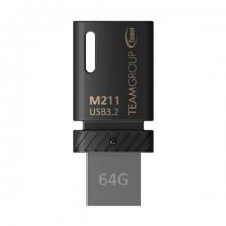 TEAM M211 OTG USB3.2 Dual Head USB Drive 64GB TM211364GB01