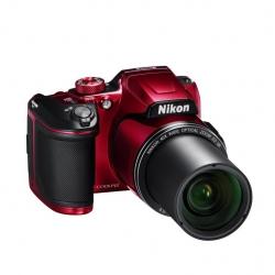 Nikon Digital Compact Camera COOLPIX B500, Red, 16MP, 40x Optical Zoom, Fixed Lens Mini HDMI VNA953AA