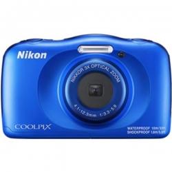 Nikon Digital Compact Camera COOLPIX W150, Blue, 13.2MP, 3x Optical Zoom, Fixed Lense, f/3.3-5.9, 10m Waterproof (VQA111AA)