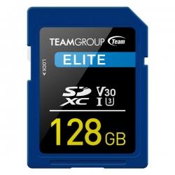 TEAMGROUP ELITE SDXC UHS-I U3 128GB High Speed Memory Card (TESDXC128GIV3001)