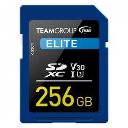 TEAMGROUP ELITE SDXC UHS-I U3 256GB High Speed Memory Card (TESDXC256GIV3001)