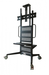 """BenQ Pro AV Trolley - Fixed Height Video Conferencing, Digital Signage and IFP Trolley - Support up to 125kg - fit displays 43"""" - 86"""" (5J.BQP11.025)"""