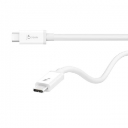 J5create JTCX02 Thunderbolt 3 Cable 100cm - (USB-C to USB-C, Up to 20 Gbps, Max 100 Watts/5 Amps)
