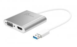 J5Create JUA360 USB 3.0 to HDMI & VGA Multi-Monitor Adapter (JUA360)