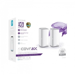 D-Link AX1800 Dual Band Seamless Mesh Wi-Fi 6 System (2-Pack) (COVR-X1872)