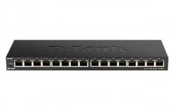 D-Link 16-Port Low Profile Gigabit Unmanaged Switch (DGS-1016S)