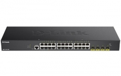 D-Link 28-Port Gigabit Smart Managed Switch with 24 RJ45 and 4 SFP+ 10G Ports (DGS-1250-28X)