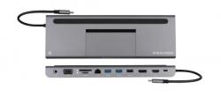 Kramer KDOCK-4 Triple display USB-C docking station - USB-C to HDMI/DP/VGA, RJ45/ 2 x USB 3.0/USB 2.0/SD/microSD/PD/3.5AUX/