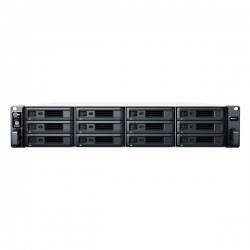 "Synology RackStation RS2421RP+ 12-Bay 3.5"" Diskless 4xGbE NAS (2U Rack) (SMB), AMD RyzenTM , 4GB RAM (RS2421RP+)"