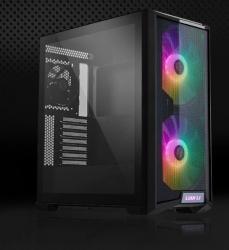 Lian-Li ATX Mid Tower Case:  LanCool 215 Tempered Glass, 2x 200mm ARGB Fans, 1x 120mm Fan, Audio, USB 3.0, Light control PC-LAN215X