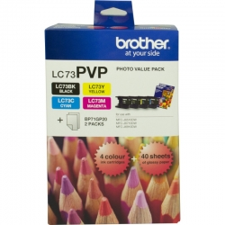 Brother VALUE PACK-BLK, CYAN,MAGENTA,YELLOW + 40 SHEETS PHOTO PAPER 8ZC71400440