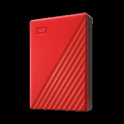 """Western Digital MY Passport 4TB RED 2.5"""" Portable Hard drive (WDBPKJ0040BRD)"""