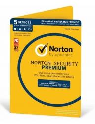Symantec 21353828 OEM Norton Security Premium - 5 Device 1 Year, OEM, PC/Mac/Android/iOS,