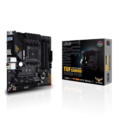 ASUS AMD B550 (Ryzen AM4) micro ATX gaming motherboard with PCIe 4.0, dual M.2, 10 DrMOS power stages, 2.5 Gb Ethernet, HDMI, DisplayPort (TUF-GAMING-B550M-PLUS)