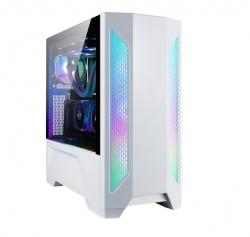 Lian-Li PC-LAN2W-White Mid-Tower: LANCOOL II W, E-ATX RGB Tempered Glass Side Case - WHITE,