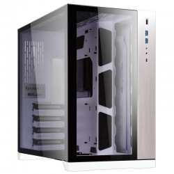 Lian Li Full-Tower Case: PC-O11 Dynamic - White2x USB 3.0, 1x USB Type-C, Tempered Glass Side Panel, Supports: E-ATX/ATX/mATX/mini-ITX (PC-O11DW)