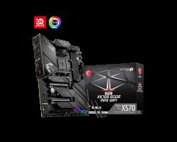 MSI MPG X570S EDGE MAX WIFI AM4 ATX Motherboard, 4x DDR4 ~128GB, 3x PCI-E x16, 1x PCI-E x1, 6x SATAIII, 3x M.2, RAID 0/1/10, 1x USB-C. 7x USB 3.2