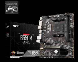 MSI B550M-A PRO Motherboard Supports AMD Ryzen 5000 & 3000 Series desktop processors