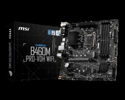 MSI B460M PRO-VDH WIFI Motherboard Supports 10th Gen Intel Core / Pentium Celeron processors for LGA 1200 socket