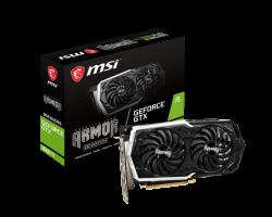 MSI GeForce GTX 1660 Ti ARMOR 6G OC nVidia GeForce GTX1660 Ti ARMOR OC 6GB GDDR6, OC Boost Clock: 1860 MHz,