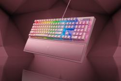Razer BlackWidow V3-Mechanical Gaming Keyboard (Green Switch)-Quartz Edition-US Layout FRML Packaging (RZ03-03541800-R3M1)