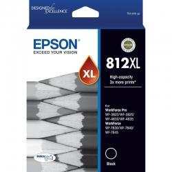 Epson 812XL - High Capacity Capacity DURABrite Ultra - Black Ink Cartridge C13T05E192