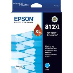 Epson 812XL - High Capacity Capacity DURABrite Ultra - Cyan Ink Cartridge (C13T05E292)