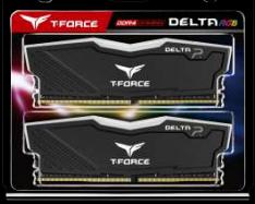 Team T-FORCE Delta RGB Series DRAM 16GB (2x8GB) DDR4 3600MHz 1.35V Black Heatspreader (TF3D416G3600HC18JDC01)