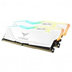 Team T-Force Delta RGB 3200MHz 16GB (2x8GB) DDR4 White TF4D416G3200HC16FDC01