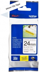 Brother 24MM BLACK ON WHITE STRONG ADHESIVE TZE TAPE (TZE-S251)
