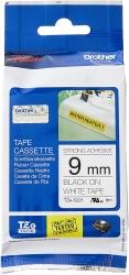 Brother 9mm Black on White Adhesive TZE Tape (TZE-S221)