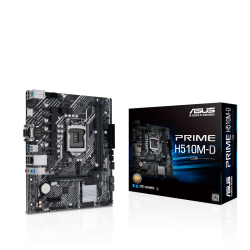 Asus PRIME H510M-D/CSM INTEL MATX Motherboard with PCIe 4.0, 32Gbps M.2 slot, Intel 1 Gb Ethernet, HDMI, D-Sub