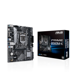 Asus PRIME B560M-K INTEL MATX Motherboard with PCIe 4.0, two M.2 slots, 8 power stages