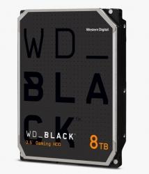 WD Black, DESKTOP, 8TB, 3.5 form factor, SATA interface, 7200 RPM, 256 cache, 5 yrs warranty WD8001FZBX