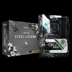 AsRock AMD X570 Ryzen 2000 and 3000 Series; 128GB; 2 PCIe 4.0 x16, 3 PCIe 4.0 x1;8 SATA3 (X570-STEEL-LEGEND)