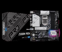 Asrock Z590M PRO4 Motherboard Supports 10th Gen Intel Core Processors and 11th Gen Intel Core Processors
