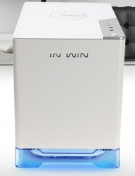 In Win A1-white Mini-itx Pc Case Tempered Glass Side Panel Usb 3.0* 2 Hd Audio Wireless Charging