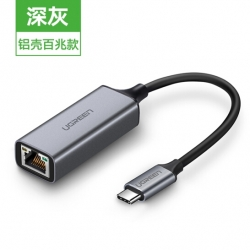 Ugreen Usb Type C To 10/ 100 Ethernet Adapter (Space Gray) 50736 Acbugn50736