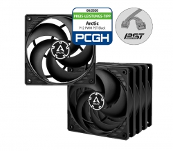 Arctic P12 Pressure-optimised 120 mm Fan with PWM PST Pack of 5 Value Pack ACFAN00137A