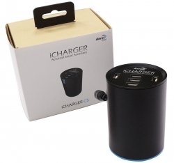 Aerocool iCharger C5 5-Port USB Car Charger, 2.4A Fast Charger With Smart IC, Total 10A 50w