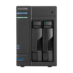 Asustor 2-Bay Nas Intel Celeron Quad-Core 4 Gb So-Dimm Ddr3L Gbe X 2 Usb 3.0 & Esata Wol System Sleep Mode Aes-Ni Hardware Encryption With Loc As6202T