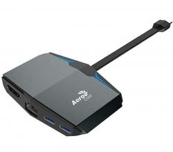 Aerocool USB Type-C Dock with 4K HDMI, Gigabit Ethernet, 2x USB-C, 2x USB3.1 ASA-ATHB82A