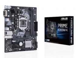 Asus Intel Lga-1151 Matx Motherboard With Led Lighting, Ddr4 2666Mhz, M.2 Support, Sata 6Gbps Prime B365M-K