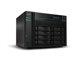 Asustor AS6508T 8 Bay Lockerstor 8 NAS Intel Atom C3538 Quad Core 2.1GHz 8GB DDR4 2x2.5GbE 2x10GbE 2xM.2PCIE 2xUSB3.2Gen1 WoW Snapshot Virtualization As6508T
