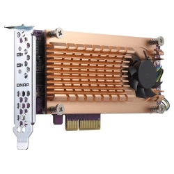 QNAP DUAL M.2 22110/2280 SATA SSD EXPANSION CARD (PCIE GEN2 X2) QM2-2S-220A
