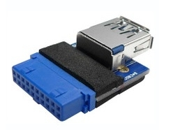 Internal Usb3.0 (Type A Male) To Single 19-Pin Usb3.0 Mainboard Connector Bc-S-Adapter-U3