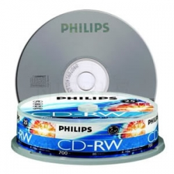 Philips Cdrw 1x-12x 80 Mins(tube Of 10) Bmdphi12xcdrw10