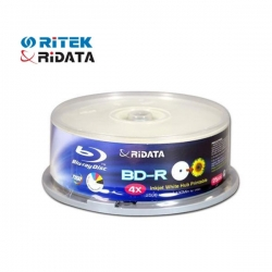 Ridata Recordable (write-once) Blue-ray Bd-r4x T25 (25gb) Printable Tube Of 25pcs Bmdridbdr4xt25