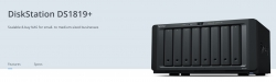"""Synology Diskstation Ds1819+ 8-Bay 3.5"""" Diskless 4Xgbe Nas (Tower) Intel Atom Quad Core 2.1Ghz"""
