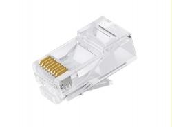 "Astrotek Cat6 Utp -Rj45 Connector 8P8C Network Plug 3 Prong Blade 3U"" Gold Plating (50Pcs/ Bag) Atp-8P8C-6"